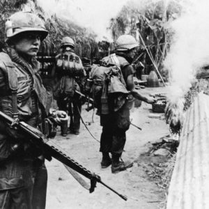 VIETNAM: US TROOPS BURN DOWN THE VILLAGE  ON MY LAY.